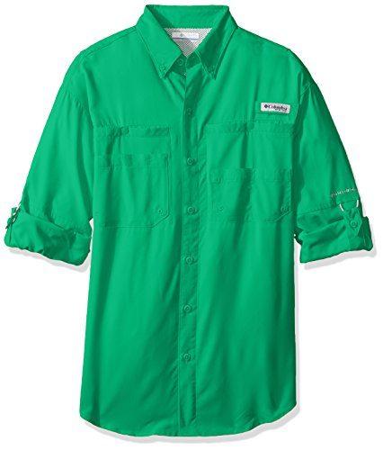 Columbia Sportswear Men's Tamiami II Long Sleeve Shirt, Dark Lime, XX-Large