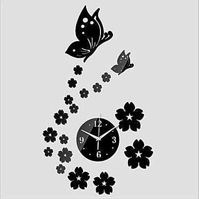 zhENfu 2016 3D Mirror Wall Clock. DIY Crystal Kitchen Clocks Home Decoration, Reloj De