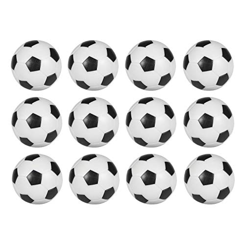 Sunfung Table Soccer Foosballs Replacement Balls Mini Black and White 36mm Official Foosball 12 Pack