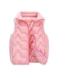 Aivtalk Kids Girls Boys Winter Warm Down Vest Puffer Lightweight Sleeveless Waistcoat