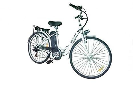 Helliot Bikes EB_01 Bicicleta Eléctrica, Unisex Adulto, Blanco, Estándar: Amazon.es: Deportes y aire libre