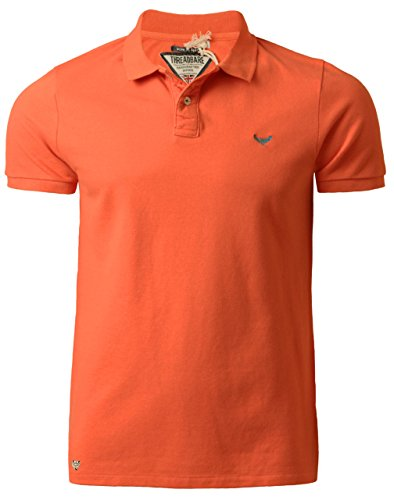 Threadbare Herren Polo Shirt Kragen Kurzarm Sommer Baumwolle MMT 018 Koralle, Gr. Small