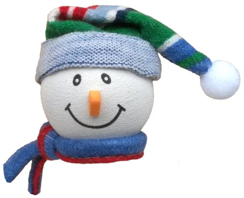 Snowman Dangler (Tenna Tops Snowman Winter Hat & Scarf Car Antenna Topper / Antenna Ball / Mirror Dangler)