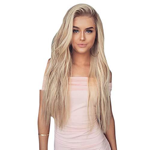 Willsa Fashion Synthetic Hair Wig Fashion Long Wavy Pink Full Wigs For Women -