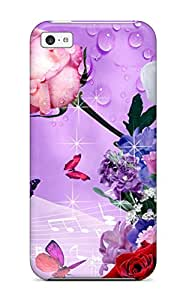 Premium flower Case For Iphone 5c- Eco-friendly Packaging