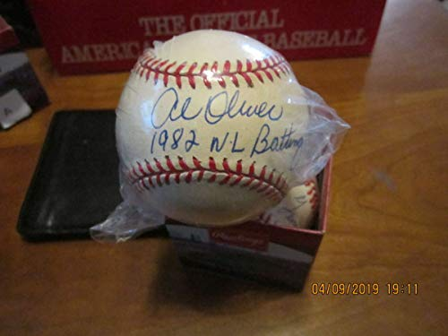Al Oliver 1982 NL Batting Champ Single Signed Baseball plastic bag - 1982 Nl Batting