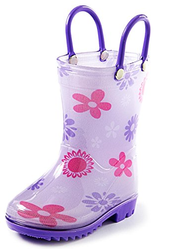 Puddle Play Toddler And Kids Rain Boots With Easy On
