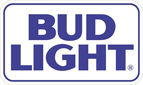 "Mystics Market Bud Light 2 - Vinyl Sticker Decal - Logo Full Color Bar Man Cave Beer (3"")"