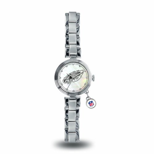 Rico Industries NFL Philadelphia Eagles Charm Watch, Silver -