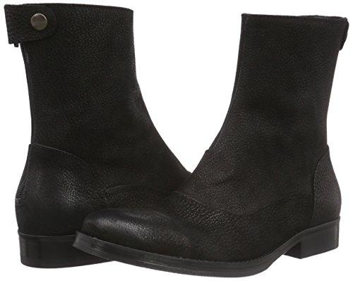 Boot Negro Mujer Botas blacknubuck Mentormentor Zip Schwarz Back qFwEqXza