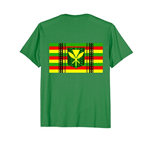 Mens Tribal Kanaka Maoli Hawaiian Flag T-Shirt 2XL Kelly (Tribal Flag)