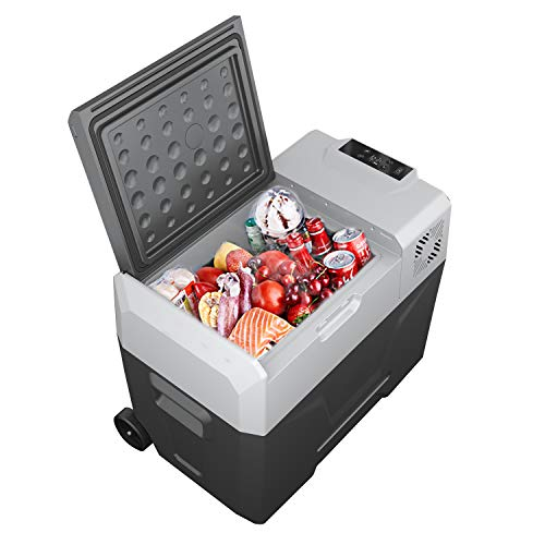 Lohoms Portable Refrigerator Electric Car Cooler 52 Qauter Mini Chest Fridge Freezer for Car Truck Outdoor & Office Home 12/24V DC and 110~240V AC
