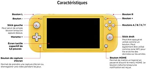 Nintendo Switch Lite Console 32GB System, Built in Control Pad, Yellow - UK Version