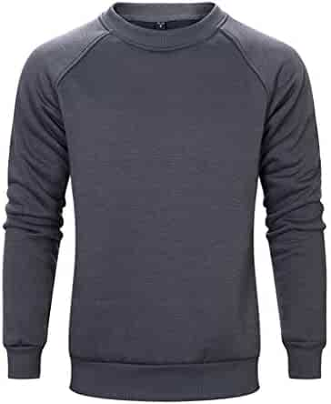 Men's Autumn Winter Solid Color Crew Neck Long Sleeve Sweatshirts Casual Loose Couple Pullover Tops
