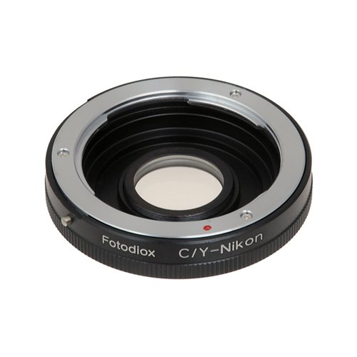 Fotodiox Pro Lens Mount Adapter Compatible with Contax/Yashica (CY) Lenses to Nikon F-Mount Cameras