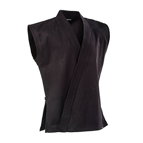 Century 8 oz. Middleweight Brushed Cotton Sleeveless Traditional Jacket, Black, Size 4 ()