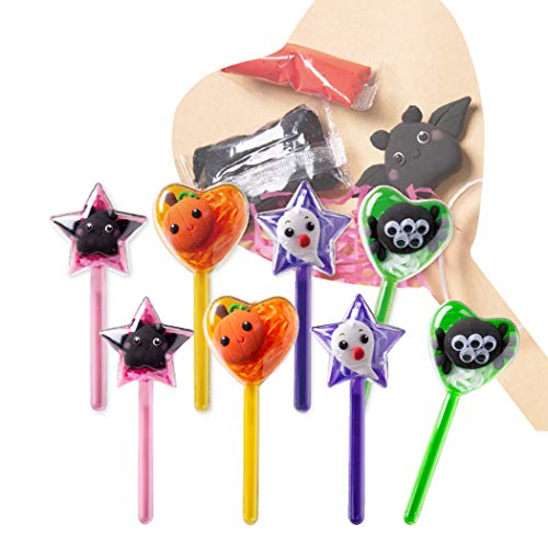 FunPa 8PCS Creative Clay DIY Developmental Princess Wand Costume Wand Halloween -