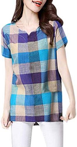 Colmkley Mens Casual Cotton Linen 3//4 Button Retro V Neck T Shirts Tops Blouse
