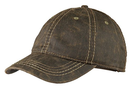 Port Authority Unisex-adult Pigment Print Distressed Cap (C924) -BROWN -OSFA Distressed Print Cap