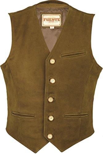 Marrón Leather para Abrigo Fuente Wears Hombre UXqX8