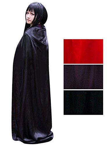 Damen Herren Halloween Umhang Karneval Fasching Kostüm Cape mit Kapuze