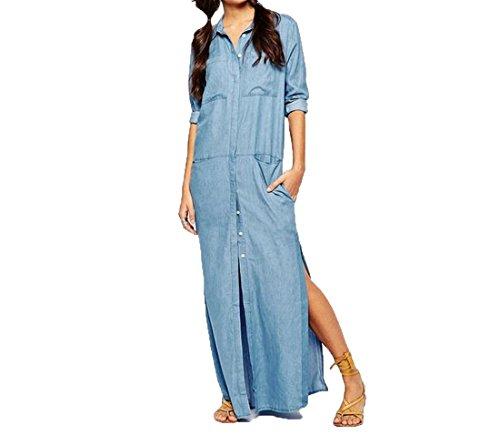 Buy maxi dress and denim shirt - 8