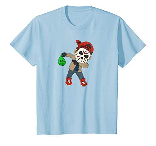 Kids Jason Dab Dabbing Halloween T shirt 6 Baby Blue ()