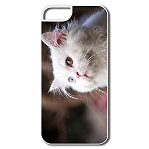 IPhone 5S Case, White Cat Cases For IPhone 5 - White Hard Plastic