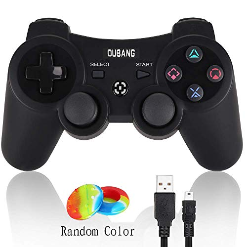 PS3 Controller Wireless Dualshock 3 - OUBANG Upgrade Version Best PS3 Games Remote Bluetooth Sixaxis Gamepad for PlayStation3 (Black) ...
