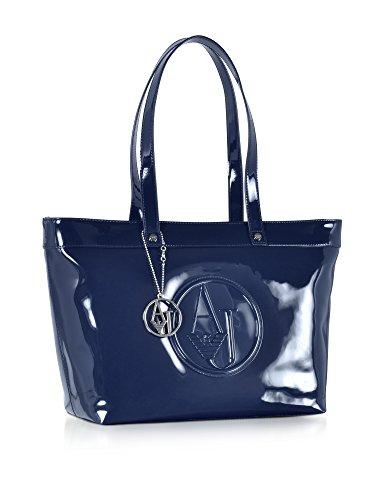 Armani Jeans Borsa Shopping Donna 922505CC85000335 Vernice Blu