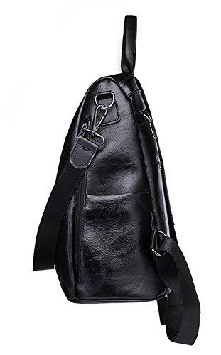 d'embrayage AllhqFashion Sacs Femme Dacron main Sacs Zippers à bandoulière à Noir qwwI5rxASd