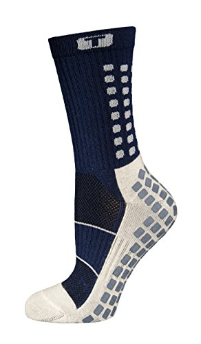 TRUSOX Mid-Calf Crew Thin Soccer Sock (Small, Navy Blue) (Soccer Socks Trusox)