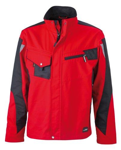 James & Nicholson, Messieurs, Workwear Jacket Cordura Red