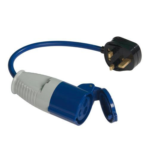 Cablefinder 13a-16a Fly Lead Converter - 13a Plug to 16a Socket - Fly Lead Plug