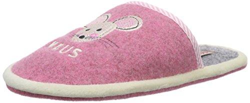 Adelheid Süße Maus Kinderfilzpantoffel, Mädchen Pantoffeln, Pink (rosa 610), 32/33 EU