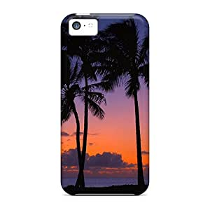Premium Iphone 5c Case - Protective Skin - High Quality For Sunset Palms