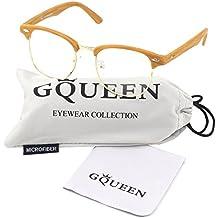 GQUEEN 201556 Vintage Inspired Half Frame Wayfarers Clear Lens Glasses
