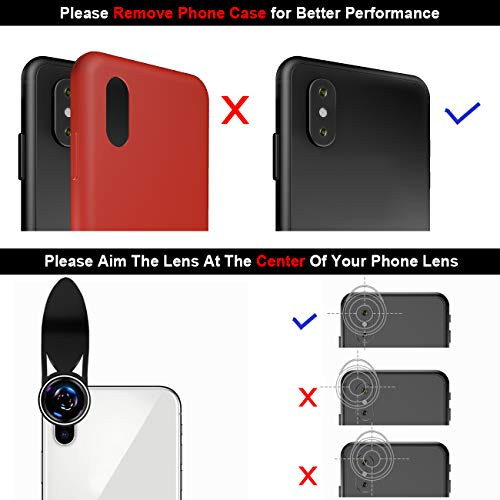 Phone Camera Lens,TODI 9 in 1 Wide Angle Lens,Macro Lens,Fisheye Lens,Telephoto Lens,CPL Lens, Kaleidoscope and Starburst Lens Compatible iPhone,Samsung, Most Andriod Phones by TODI (Image #7)