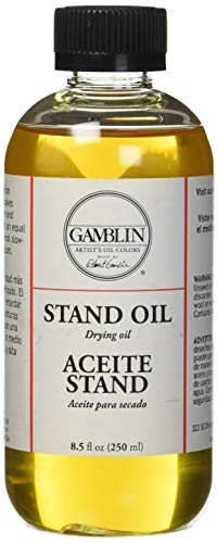 Linseed Oil Stand - 3M Gamblin Stand Linseed Oil 8 Oz (G08008)