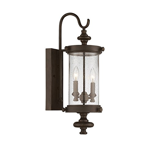 Savoy House Palmer 2-Light Outdoor Wall Lantern in Walnut Patina 5-1220-40 Patina Outdoor Fixture