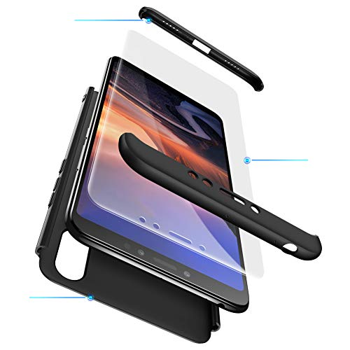 MYLB-US Xiaomi Mi 8 Lite Case 3 in 1 Ultra-Thin Hard Case PC Scratch-Resistant Premium Slim 360-degree Body Case for Xiaomi Mi 8 Lite (Black)