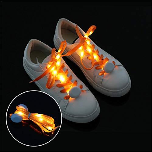 Pour Air Chaussures Clignotants Plein Kit Multicolores En 110cm De Ishiné Fête Orange Led À Lacets xTwYw0