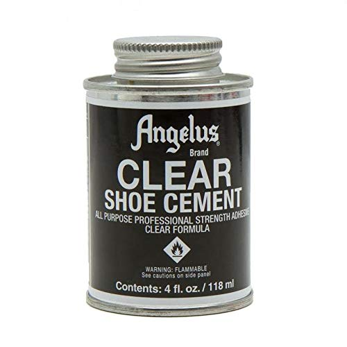 Angelus Shoe Contact Cement All Purpose Glue Clear 4oz (Skate Shoe Glue)