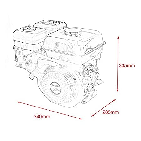 Amazon Com Belovedkai 6 5 Hp 212cc Ohv Horizontal Shaft Gas Engine