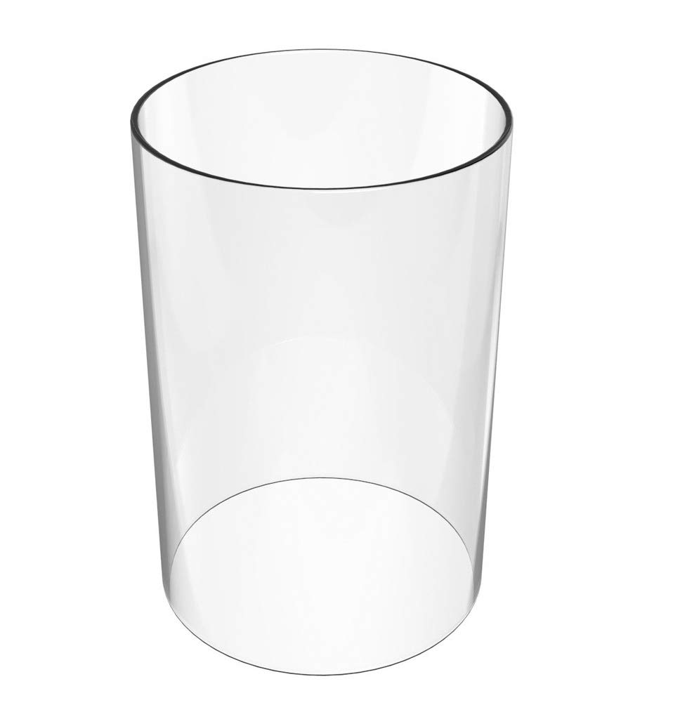 Amayan Clear Glass Cylinder Lampshade-Borosilicate Glass Height 14'' Diameter 4'' - Suitable for Wedding Decoration and Stage Props- Candle - (Multiple Specifications)