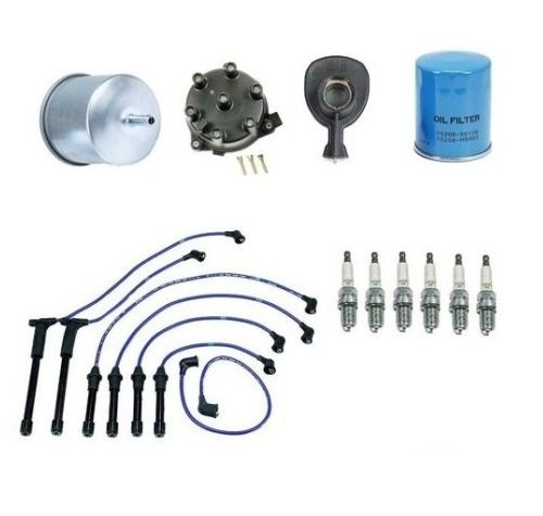 Ignition Tune Up Kit Filters Cap Rotor Plugs Wire Set Mercury Villager 94-98 3.0 by Bosch (Image #1)