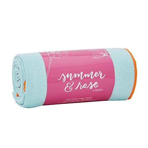 Summer & Rose Yoga Towel, - Rose Yoga Namaste