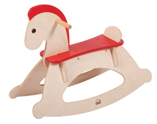 Hape Rock and Ride Kid's Wooden Rocking Horse by Educo