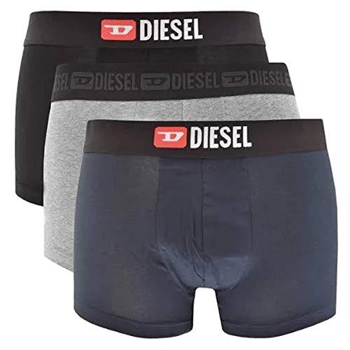 (Diesel Men's UMBX-DAMIENTHREEPACK Denim Division Boxer-Brief 3pack, Gray/Navy/Black Industry, XXL)