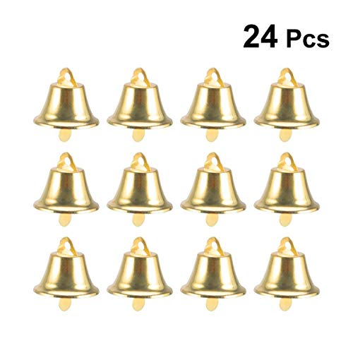 (TINKSKY 24pcs 45mm Jingle Bell Christms Ornaments Door Christmas Tree Hanging Decoration Pendants Christmas Home Holiday Party Decor Wedding Favors (Golden))